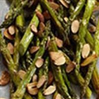 Lemon Roasted Asparagus w Almonds